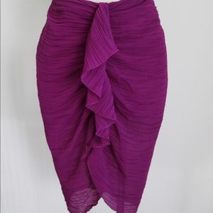 Draped purple skirt